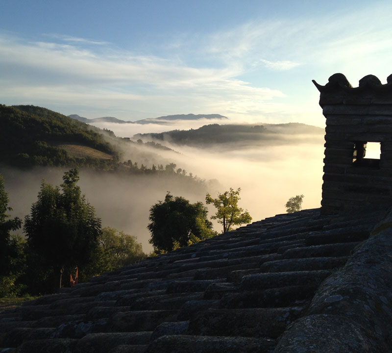 Sonnenaufgang in San Fiorano